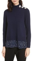 Kate Spade Women's Night Sky Mixed Media Sweater