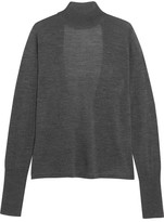 Dion Lee Open-back Merino Wool Turtleneck Sweater - Dark gray