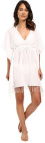 Lauren Ralph Lauren Fringed Cotton Tunic Cover-Up