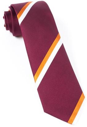 Tie Bar Ad Stripe Burgundy Tie