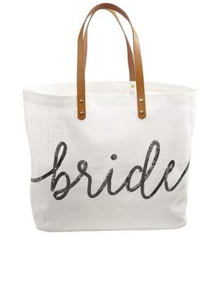 Mud Pie Gift Silver-Sequin Bride Tote