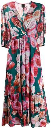 Pinko Floral Print Tiered Dress