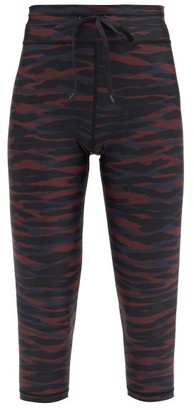 The Upside Animal Camouflage-print Cropped Leggings - Camouflage