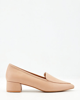 Le Château Faux Leather Pointy Toe Loafer Pump