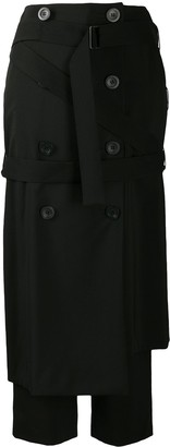 Enfold Double-Breasted Midi Skirt