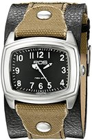 EOS New York Unisex 92LTOBBLK Fuse Two Tone Leather Strap Watch