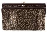 Bottega Veneta Leather-Trimmed Satin Clutch