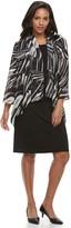 Women's Nina Leonard Sheath Dress & Printed Cardigan Set