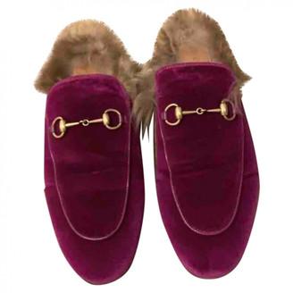 Gucci Princetown Purple Velvet Flats