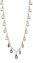 Candela 18K Yellow Gold Plated Sterling Silver Semi-Precious Briolette Drop Necklace
