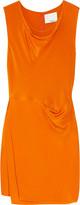 Wrap-effect silk crepe de chine dress