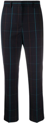 Paul Smith Grid-Pattern Cropped Trousers