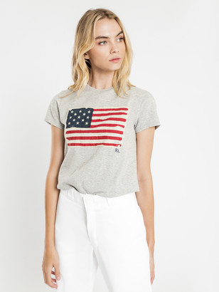 Polo Ralph Lauren Polo Short Sleeve Flag T-Shirt in Grey