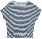 Morley Sale - Ferry Striped Short Sleeved Sweatshirt in Towelling