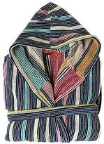 Missoni Tommaso Striped Cotton Velour Bathrobe