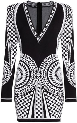 Balmain Jacquard Knit Mini Dress