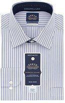 Eagle Men's Non Iron Stretch Collar Regular Fit Multi Stripe Spread Collar Dress Shirt