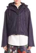 Cédric Charlier Hooded Zip Front Jacket