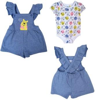Disney Baby Girl's Winnie The Pooh 2pc Shortall Set Pants