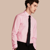 Burberry Modern Fit Double-cuff Striped Cotton Poplin Shirt