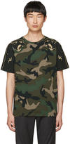 Valentino Green Camo Panther T-shirt
