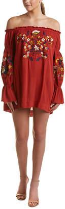 Selfie Leslie Off-The-Shoulder Embroidery Dress