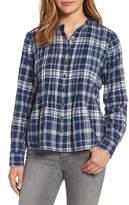 Caslon Pintuck Plaid Shirt