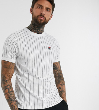 Fila Guilo striped t-shirt in white exclusive at ASOS