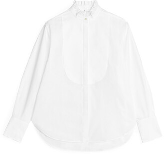 Arket Ruffle-Neck Tuxedo Shirt
