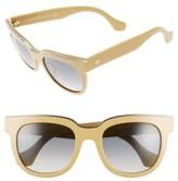 Balenciaga Women's Paris Rectangular 52Mm Sunglasses - Shiny Brown/ Gradient Smoke
