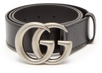 Gucci GG Leather Belt - Black