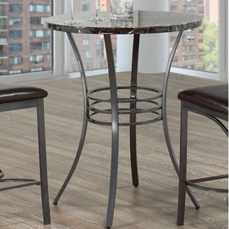 Winston Porter Hoskin Marble Top Dining Table