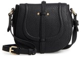 Linea Pelle Classic Faux Leather Saddle Bag - Black