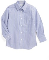 Nordstrom Boy's Stripe Poplin Dress Shirt