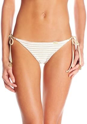 Luli Fama Women's Moon Over Miami Ruched-Back Brazilian Bikini Bottom