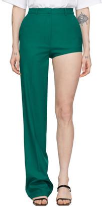 pushBUTTON Green One-Leg Trousers