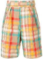 Sacai check shorts
