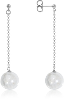 Antica Murrina Veneziana Perleadi White Murano Glass Bead Earrings