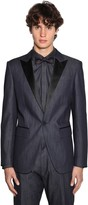 DSQUARED2 Berlin Light Cotton Denim Tuxedo Blazer