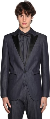 DSQUARED2 Berlin Light Cotton Denim Tuxedo Blazer