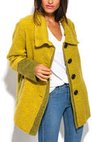 Yellow Wool-Blend Swing Coat - Plus Too