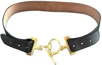 Gucci Black Leather Belts