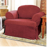 Sure Fit Soft Suede Armchair T-Cushion Slipcover