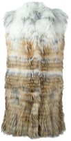 Yves Salomon degrade fur vest - women - Cotton/Fox Fur/Spandex/Elastane - 36