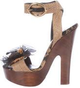 Dolce & Gabbana Floral Platform Sandals