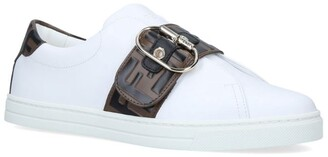Fendi Buckled Logo Sneakers