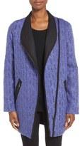 Nic+Zoe Women's Tapestry Asymmetrical Zip Coat