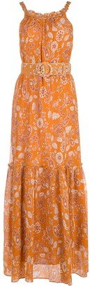 Nicholas Floral Print Belted Dress