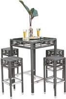 Panama Jack Graphite Backless Stool Pub Set (5 PC)
