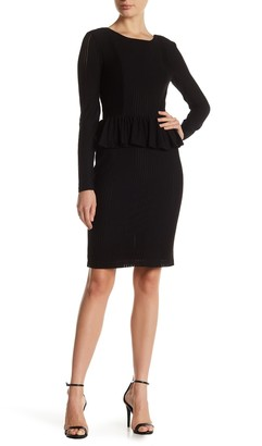 Cynthia Steffe Florence Long Sleeve Peplum Dress